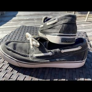 Sperry Top Sider Womens Biscayne Black Shoes 8.5